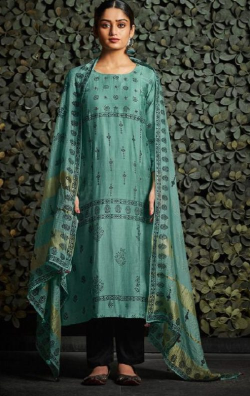 JayVijay Presents Aylin 1 Bemberg Moga Silk Print With Handwork Salwar Suit 4847