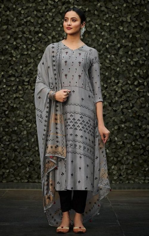 JayVijay Presents Aylin 1 Bemberg Moga Silk Print With Handwork Salwar Suit 4849