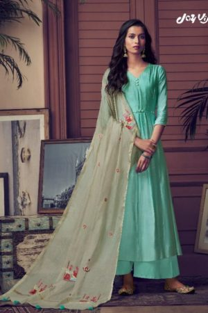 Jayvijay Presents Raaga 3 Pure Bemberg Silk With Mukaish Handwork Salwar Suit 2021