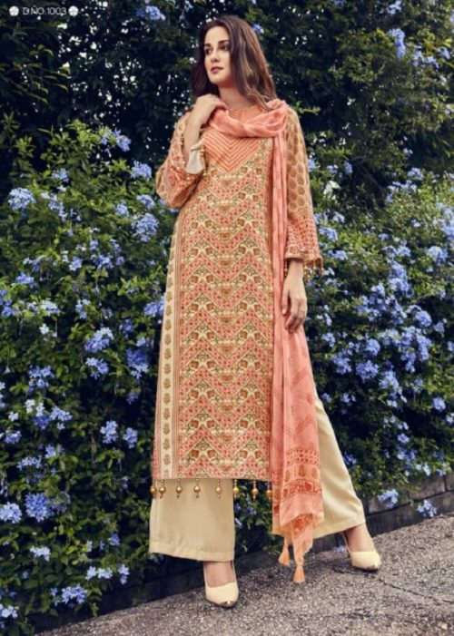 Kesar Karachi Gulmarg Pure Pashmina Twill Digial Print Winter Collection Salwar Suit 1003