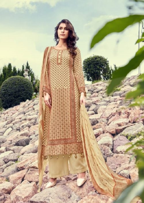 Kesar Karachi Gulmarg Pure Pashmina Twill Digial Print Winter Collection Salwar Suit 1004