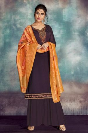 Kesari Trendz Eliza Vol 1 Pure Georgette Satin With Heavy Embroidery and Handwork Suits 108