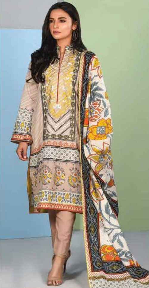 LSM Summer Breeze Pure Lawn Embroidered Pakistani Original Salwar Suit SEC-303 A