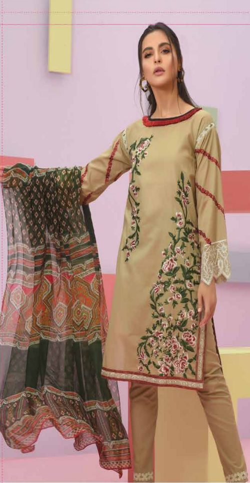 LSM Summer Breeze Pure Lawn Embroidered Pakistani Original Salwar Suits SEC-302 A