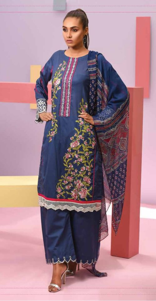 LSM Summer Breeze Pure Lawn Embroidered Pakistani Original Salwar Suits SEC-302 B