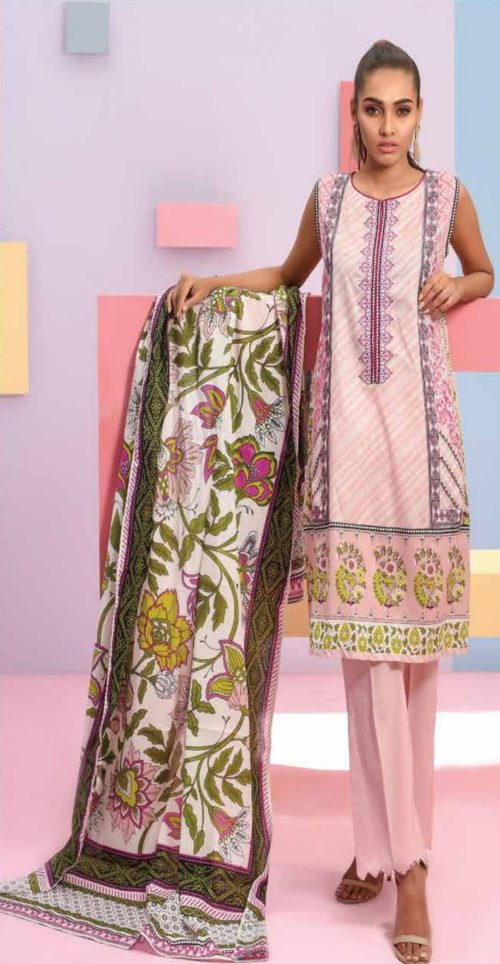 LSM Summer Breeze Pure Lawn Embroidered Pakistani Original Salwar Suits SEC-303 B