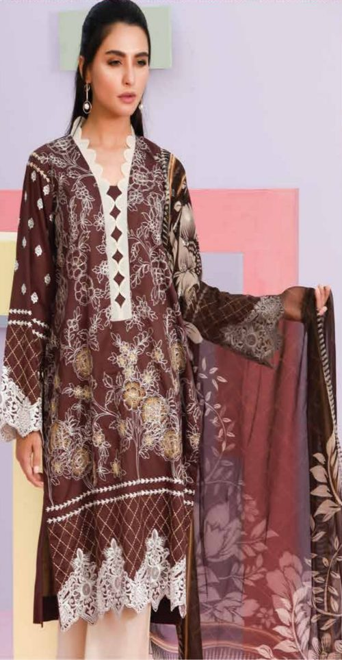 LSM Summer Breeze Pure Lawn Embroidered Pakistani Original Salwar Suits SEC-304 B