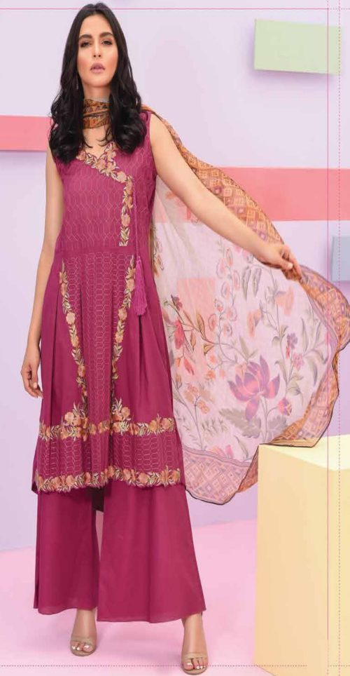 LSM Summer Breeze Pure Lawn Embroidered Pakistani Original Salwar Suits SEC-306 B