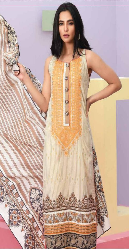 LSM Summer Breeze Pure Lawn Embroidered Pakistani Original Salwar Suits SEC-307 B