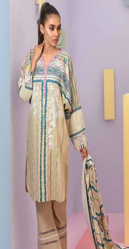 LSM Summer Breeze Pure Lawn Embroidered Pakistani Original Salwar Suits SEC-308 A