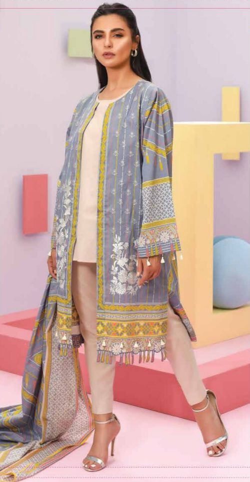 LSM Summer Breeze Pure Lawn Embroidered Pakistani Original Salwar Suits SEC-308 B