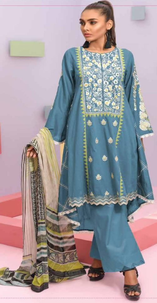 LSM Summer Breeze Pure Lawn Embroidered Pakistani Original Salwar Suits SEC-309 B
