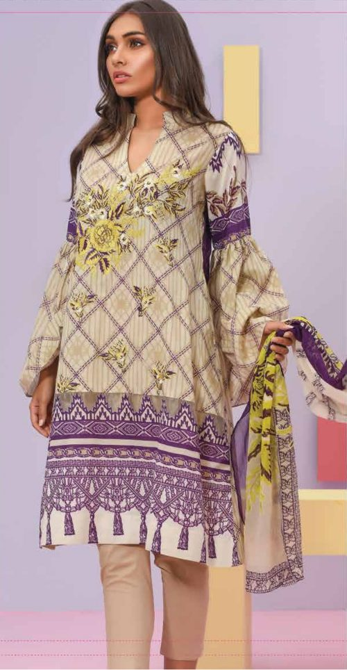 LSM Summer Breeze Pure Lawn Embroidered Pakistani Original Salwar Suits SEC-310 B