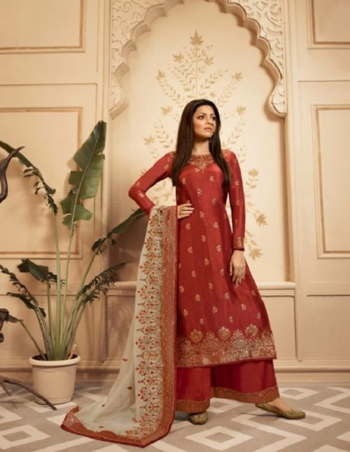 Lt Fabrics Nitya Vol 143 Dola Jacquard With Embroidery Work Partywear Suits 4308
