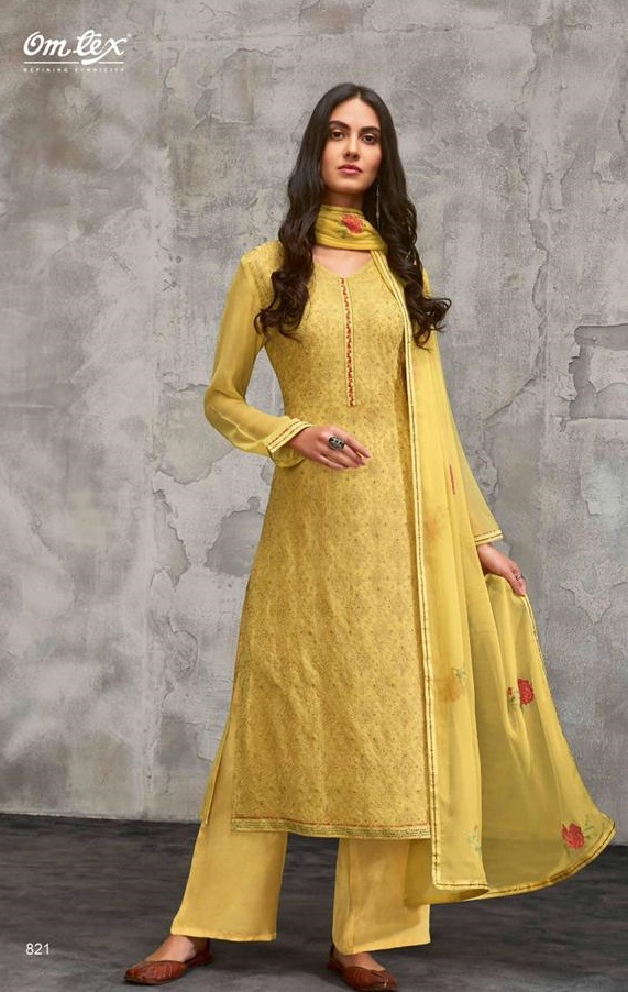 Omtex Presents Breeze Georgette With Embroidery Unstitched Salwar Suit 821