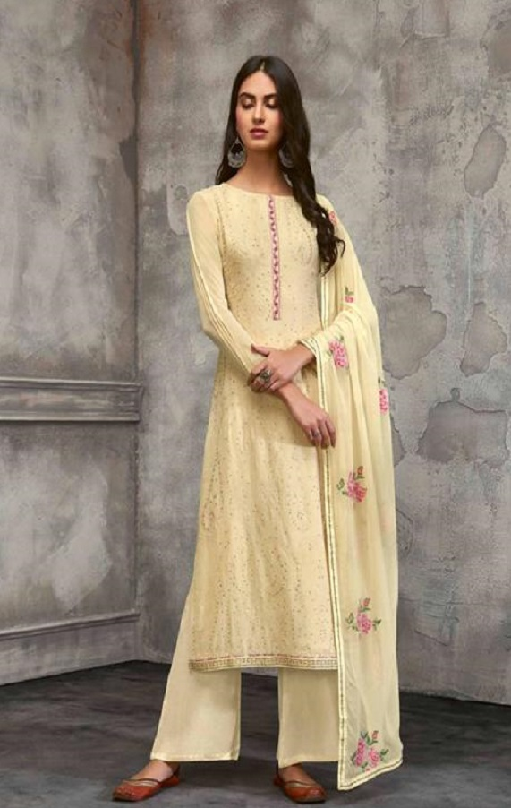 Omtex Presents Breeze Georgette With Embroidery Unstitched Salwar Suits 824