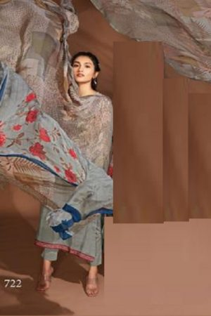 Sahiba Itrana Presents Freesia Viscose Silk Digital Print With Embroidery Salwar Suits 722