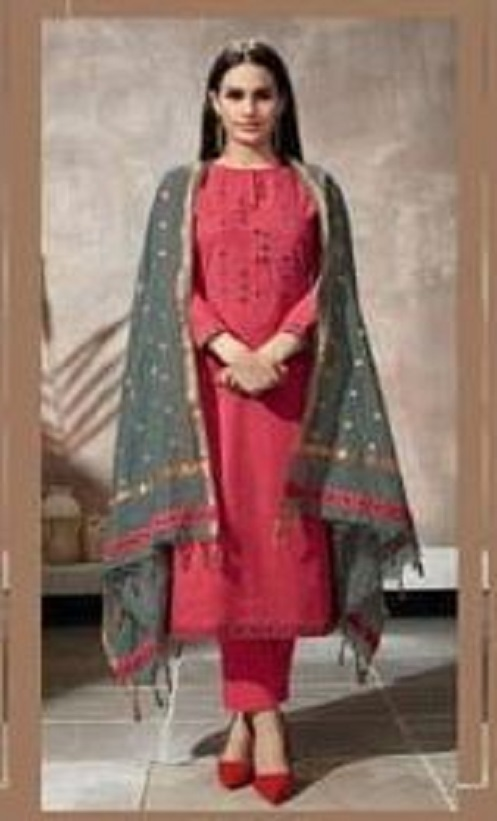Sahiba Itrana Presents Iternal Path Pure Chex With Embroidery Salwar Suit 800
