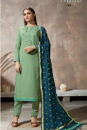 Sahiba Itrana Presents Iternal Path Pure Chex With Embroidery Salwar Suit 815