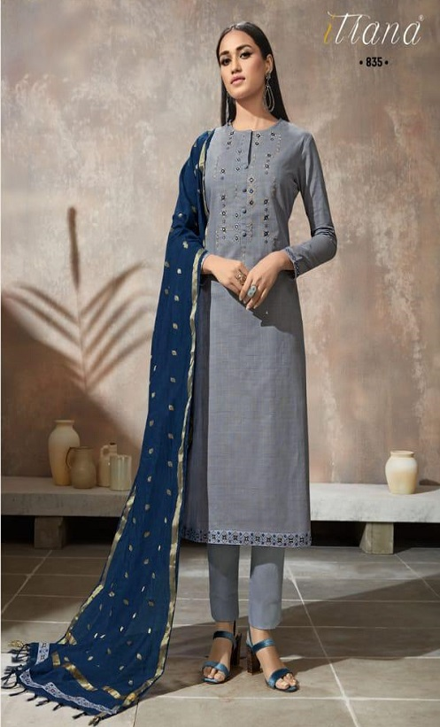 Sahiba Itrana Presents Iternal Path Pure Chex With Embroidery Salwar Suit 835