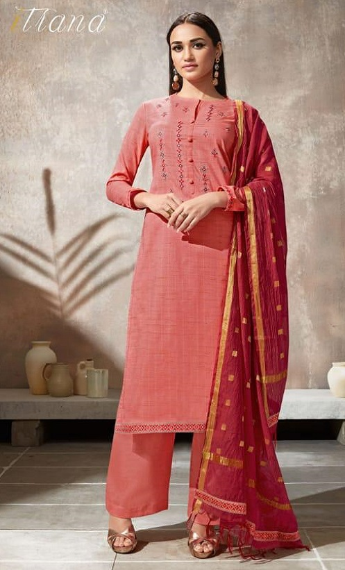 Sahiba Itrana Presents Iternal Path Pure Chex With Embroidery Salwar Suit 877
