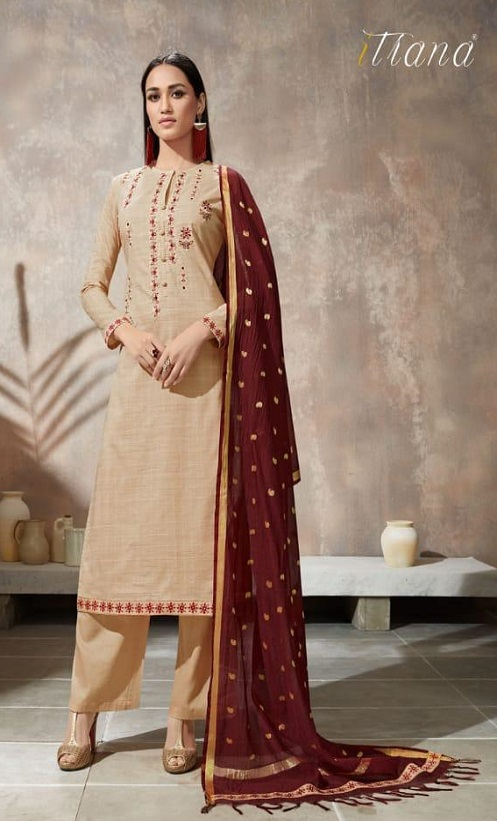 Sahiba Itrana Presents Iternal Path Pure Chex With Embroidery Salwar Suits 877