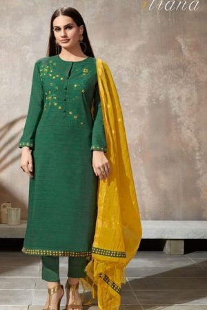 Sahiba Itrana Presents Iternal Path Pure Chex With Embroidery Salwar Suit 890