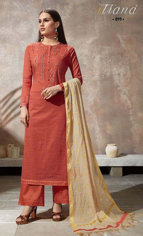 Sahiba Itrana Presents Iternal Path Pure Chex With Embroidery Salwar Suit 899