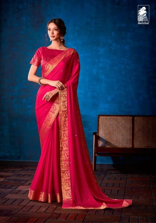 Sahiba Presents Nishwan Fancy Georgette With Fancy Lace Border Designer Saree 10