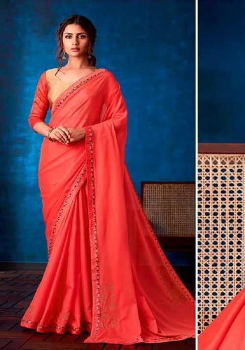 Sahiba Presents Nishwan Fancy Georgette With Fancy Lace Border Designer Saree 17