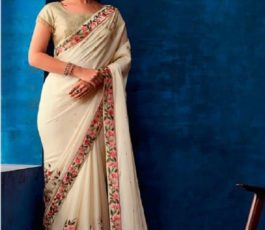 Sahiba Presents Nishwan Fancy Georgette With Fancy Lace Border Designer Saree 20