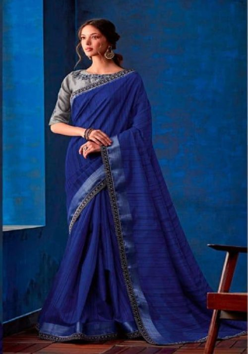 Sahiba Presents Nishwan Fancy Georgette With Fancy Lace Border Designer Saree 21