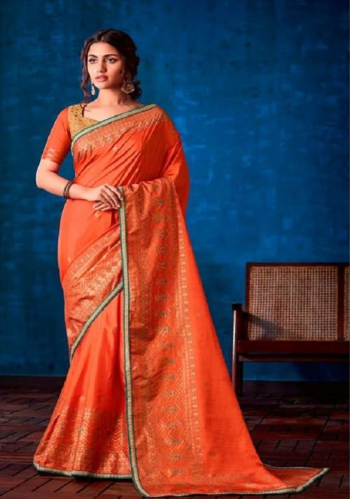 Sahiba Presents Nishwan Fancy Georgette With Fancy Lace Border Designer Saree 23