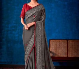 Sahiba Presents Nishwan Fancy Georgette With Fancy Lace Border Designer Saree 24