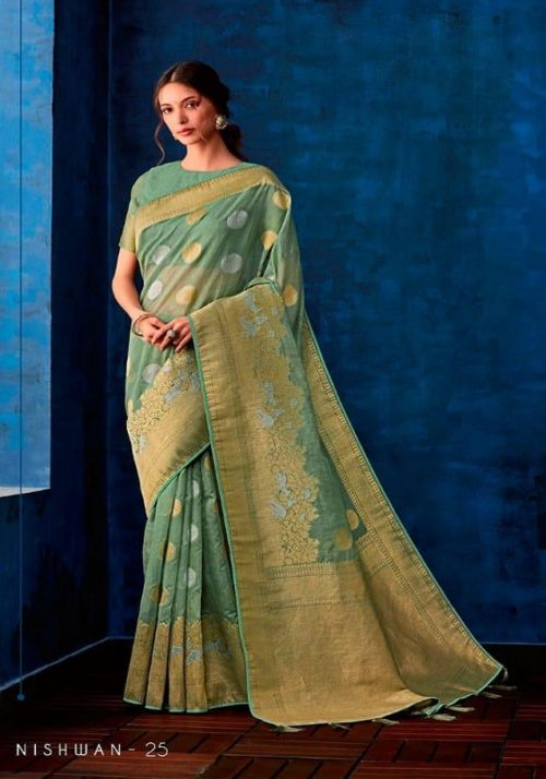 Sahiba Presents Nishwan Fancy Georgette With Fancy Lace Border Designer Saree 25