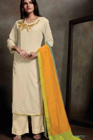 Sahiba Presents Zarah Cotton Zari Butta With Embroidery Salwar Suit 845