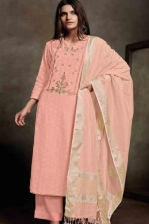 Sahiba Presents Zarah Cotton Zari Butta With Embroidery Salwar Suits 848