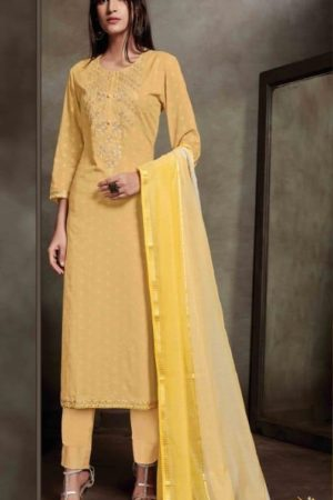 Sahiba Presents Zarah Cotton Zari Butta With Embroidery Salwar Suits 890