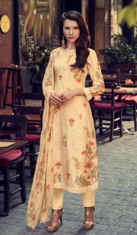 Sahiba Sarg Itra Pashmina Twill Digital Print With Handwork Salwar Suit 735