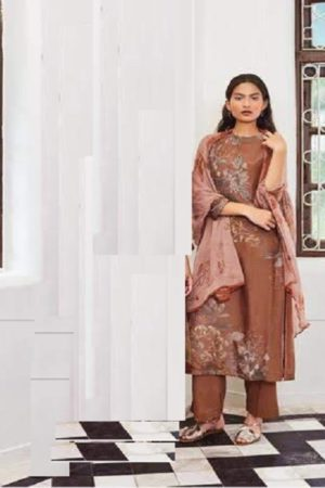 Sahiba Sarg Presents Leaf Age Cotton Silk Digital Print With Handwork Salwar Kameez 967