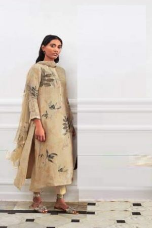 Sahiba Sarg Presents Leaf Age Cotton Silk Digital Print With Handwork Salwar Kameez 972