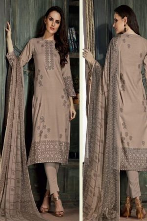 Sahiba Sudriti Lakeer Dobby Satin Digital Print With Handwork Salwar Suit 718