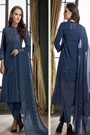 Sahiba Sudriti Lakeer Dobby Satin Digital Print With Handwork Salwar Suit 799