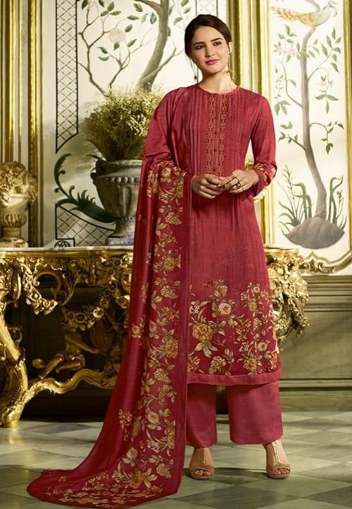 Sahiba Sudriti Peony Pashmina Twill Digital Print With Embroidery Salwar Suit 545