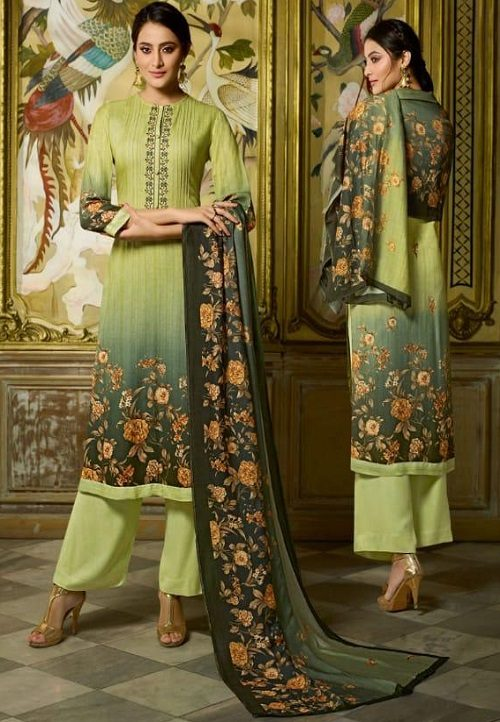 Sahiba Sudriti Peony Pashmina Twill Digital Print With Embroidery Salwar Suit 576