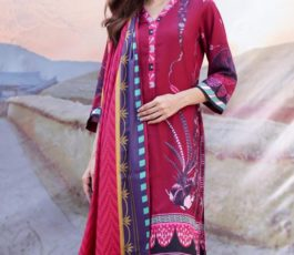 Sahil Printed Cotton Collection 2019 With Printed Lawn Dupatta and Dyed Trouser Original Pakistani Suit 01