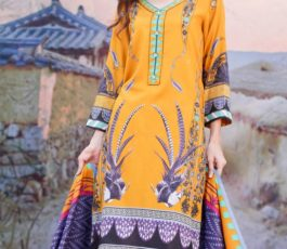 Sahil Printed Cotton Collection 2019 With Printed Lawn Dupatta and Dyed Trouser Original Pakistani Suit 03