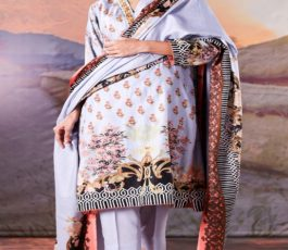 Sahil Printed Cotton Collection 2019 With Printed Lawn Dupatta and Dyed Trouser Original Pakistani Suit 06