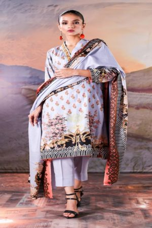 Sahil Printed Cotton Collection 2019 With Printed Lawn Dupatta and Dyed Trouser Original Pakistani Suits 06