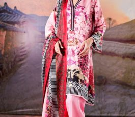 Sahil Printed Cotton Collection 2019 With Printed Lawn Dupatta and Dyed Trouser Original Pakistani Suit 07